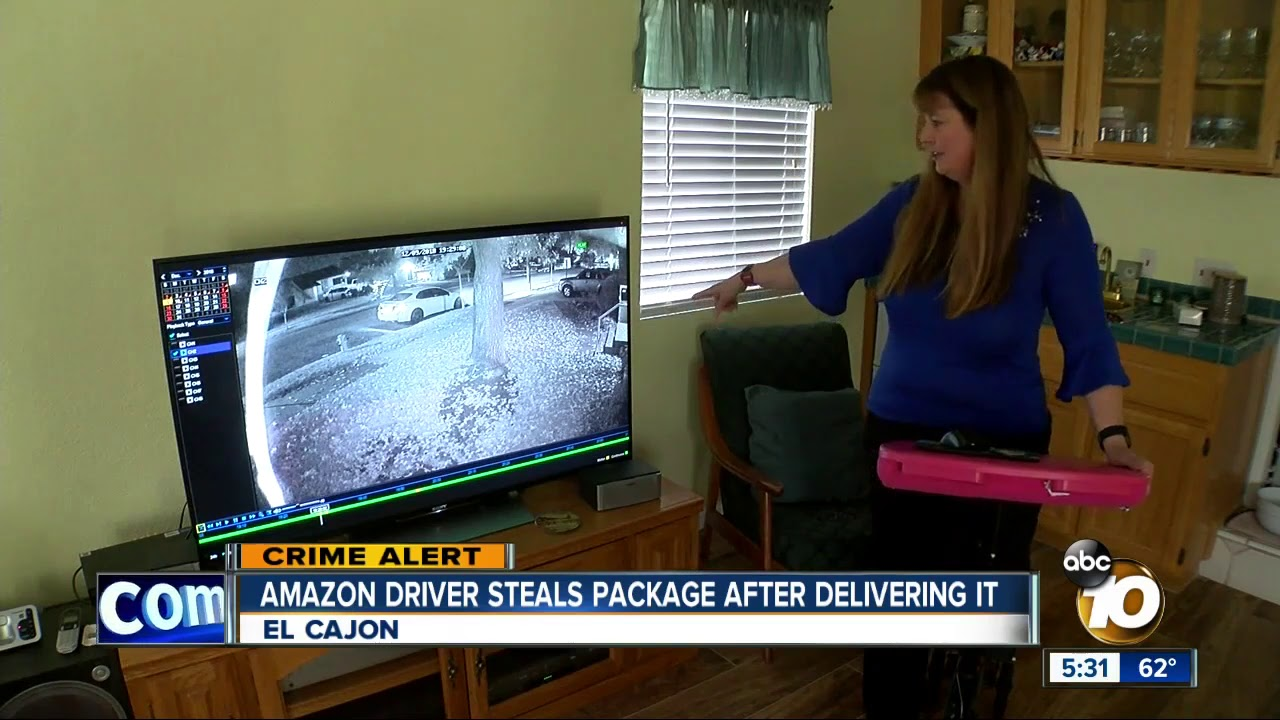 Amazon Driver Steals Package After Delivery. Watch Your Back My People...