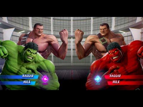 Haggar And Hulk Vs Red Hulk And Haggar - MARVEL VS. CAPCOM: INFINITE