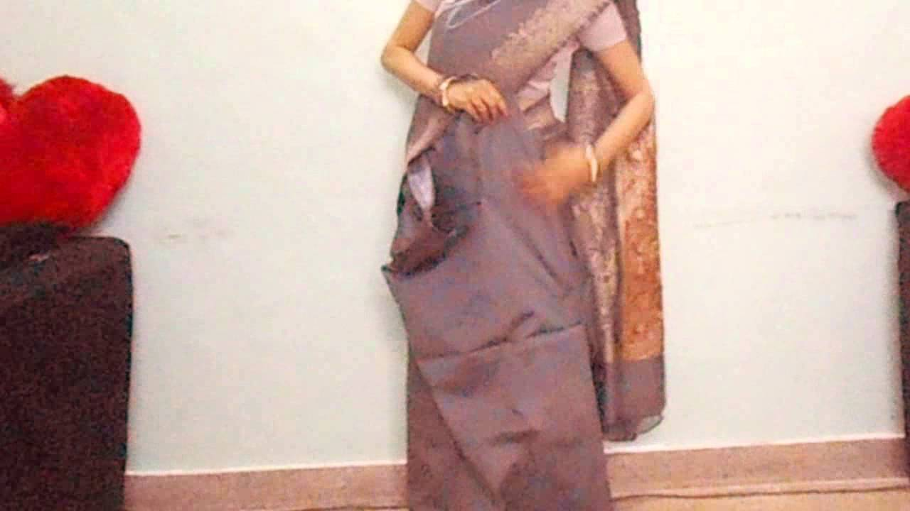 How to silk wear saree neatly video forecasting dress for on every day in 2019