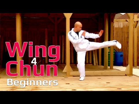 Wing Chun for beginners lesson 7: basic leg combination exercise/ moving forward with single kick