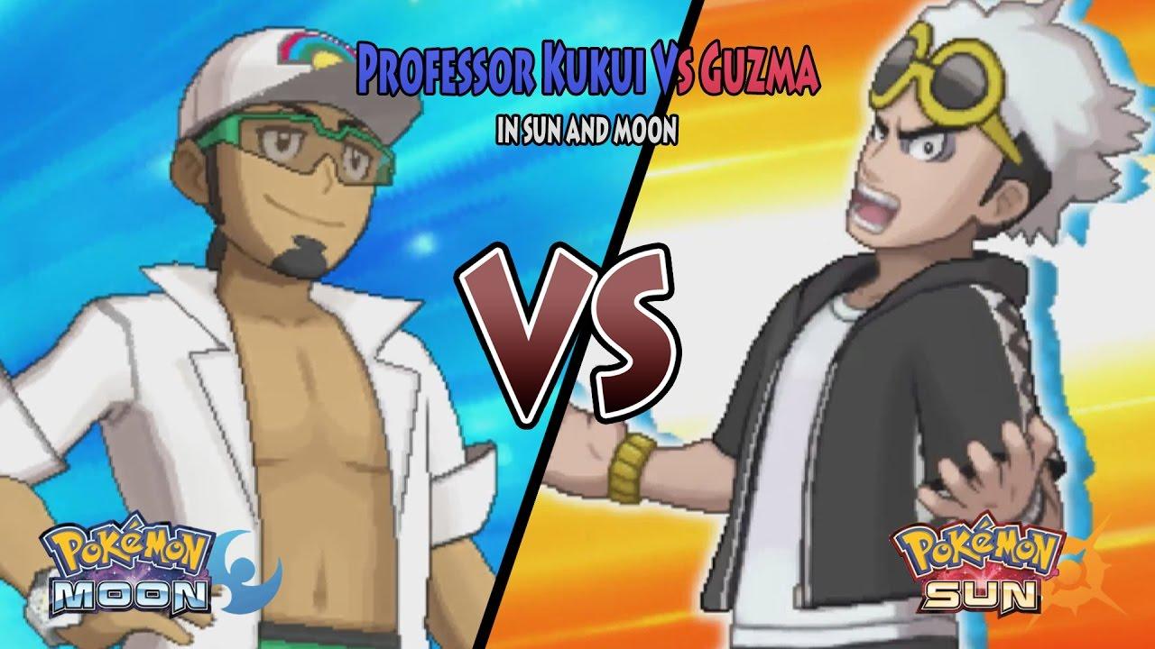 sun and moon professor kukui vs guzma team skull