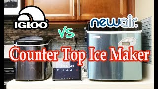 Igloo Vs New Air Portable & Counter Top Ice Maker Review & Performance Test