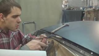 ваз 2112 установка крыши  проба прутков для пайки пластика