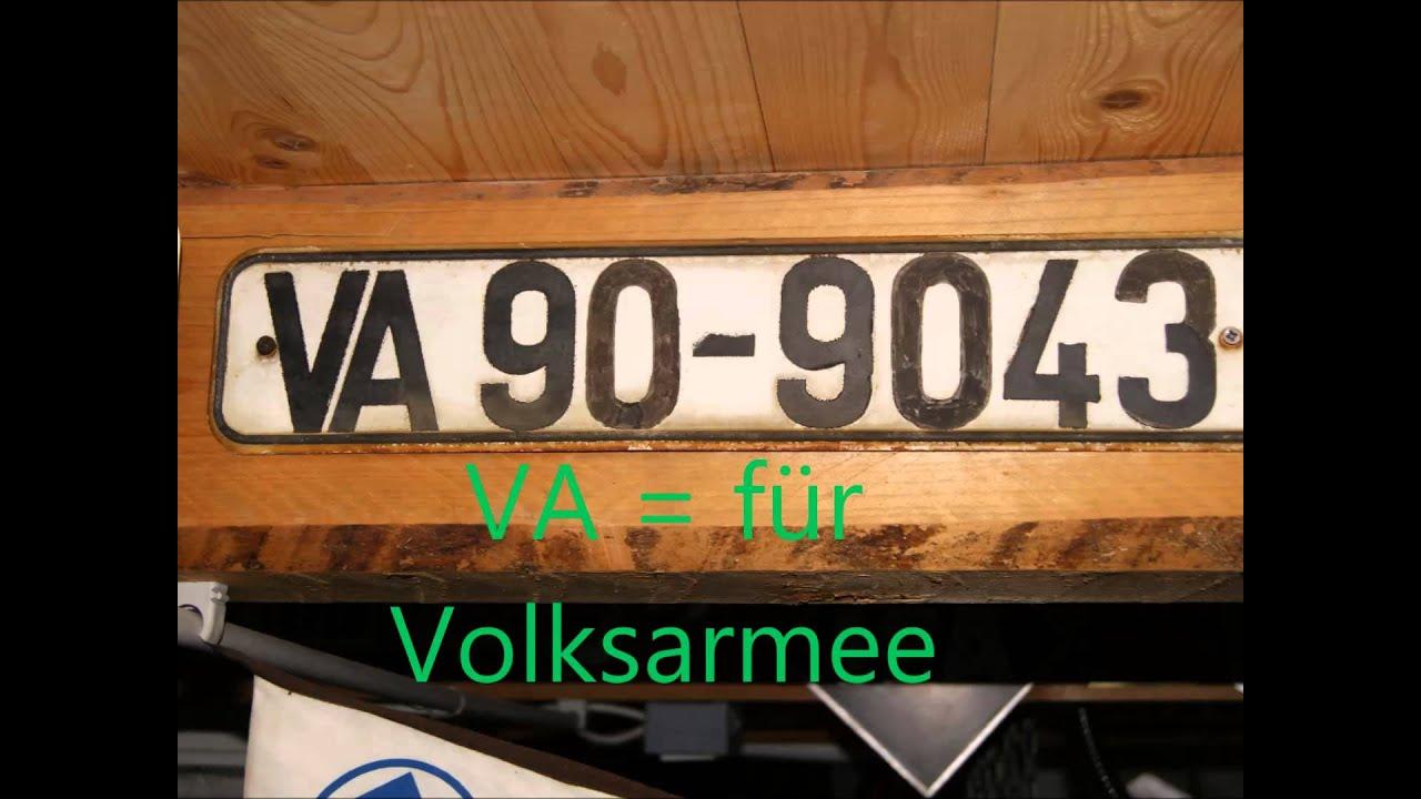 DDR SBZ Nummernschild Kennzeichen Oldtimer MZ Trabant ADMV IWL EMW ...