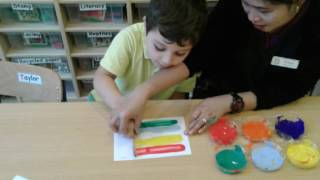 Rainbow Painting - Preschool