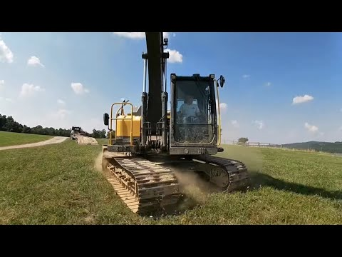 searching-for-lost-go-pro---new-homestead-purchase---hauling-the-140-excavator