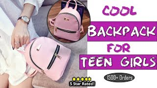 Fashionable Girls Backpack 2018 | High Quality Leather Backpack for teenagers |