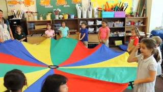 Nysmith Private School: Today In Kindergarten Music - The Parachute Song