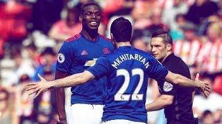 Sunderland  vs Manchester United H.Mkhitaryan goal 46' 2017-04-09