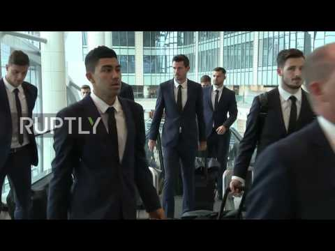 Russia: The Socceroos arrive in Moscow for Confederations Cup