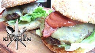 Bacon Cheese Burgers - Video Recipe