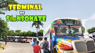 Como es la terminal de Buses de Sonsonate en El Salvador YS SV SVL