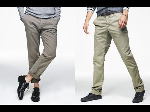 Mens Khaki Pants - YouTube