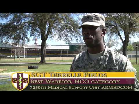 Best Warrior Competition 2017 winner NCO category: SGT Terrelle Fields