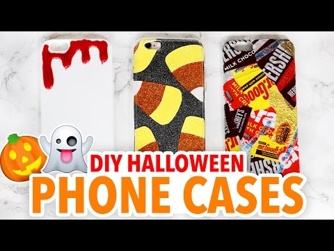 DIY HALLOWEEN PHONE CASES ~ Cute & Easy! | @karenkavett