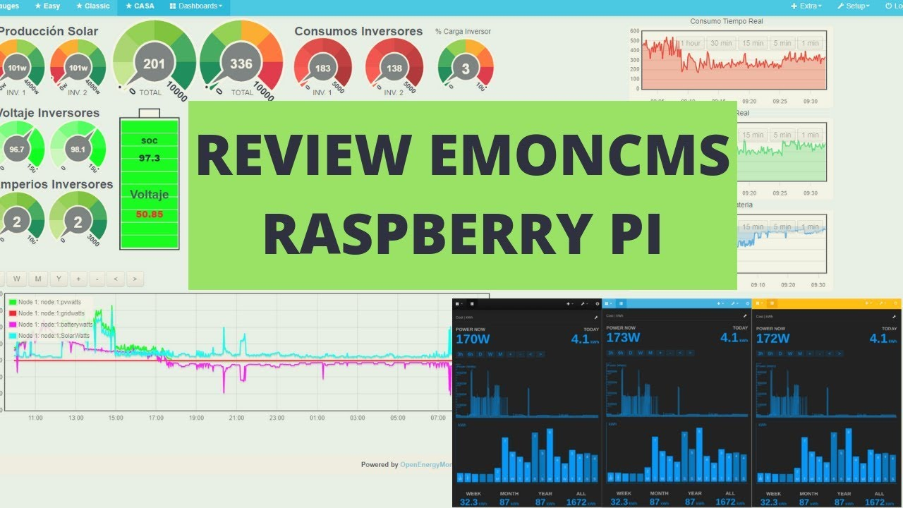 ✅ ☝ EMONCMS en Version Raspberry PI ICC SOLAR