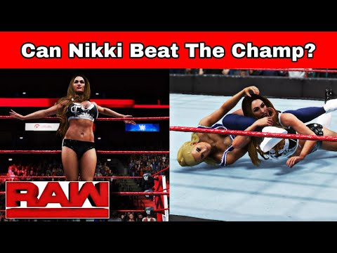 QWS RAW| Carmella AMBUSHES Nikki Bella Before their Match! [WWE 2K20]