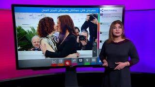 """قبلة بين ممثلتين مغربيتين في مهرجان """"كان"""" السينمائي تثير ضجة"""
