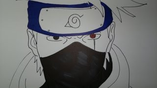 How To Draw Kakashi Hatake Slow Motion.カカシを描画する方法.