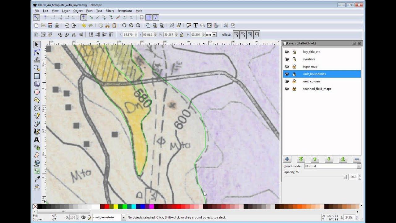 Digitising map in Inkscape (3A) Unit boundaries simple method