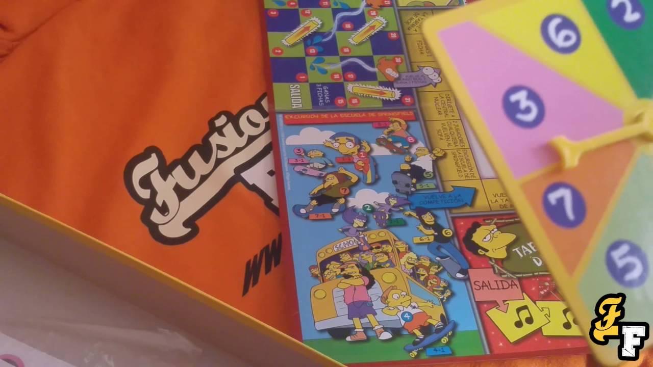 Juegos De Mesa Retro El Gran Juego De Los Simpsons Youtube