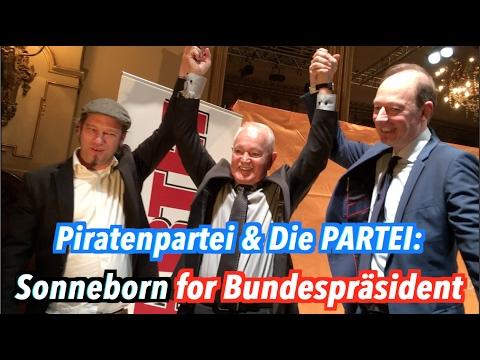 Sonneborn soll Bundespräsident werden: Komplette Pressekonferenz von Die PARTEI & Piratenpartei