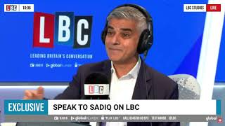 Sadiq Khan with James O'Brien | LBC Radio | 6 October 2021 | Insulate Britain