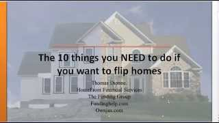 How to get started flipping homes