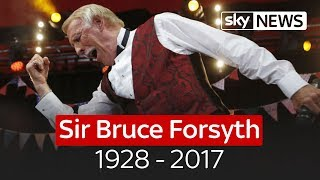 Veteran TV host Sir Bruce Forsyth dies at 89