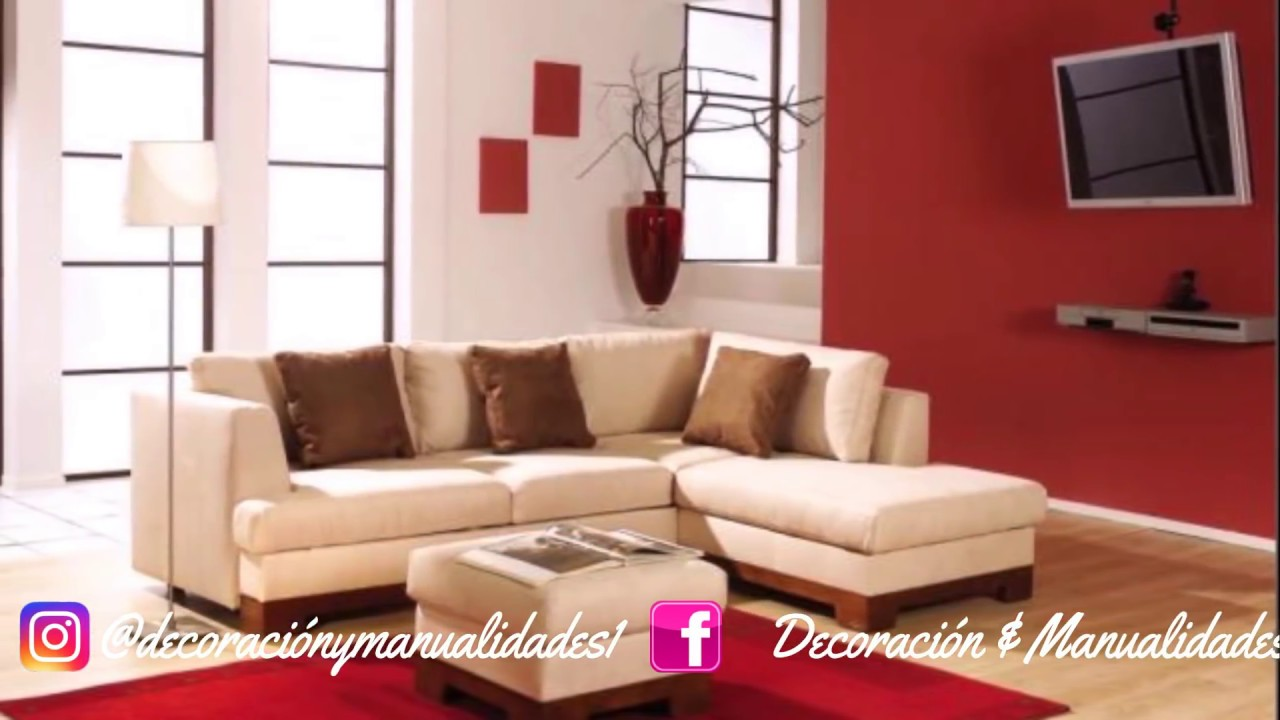 Consejos de como decorar una sala peque a como decorar - Materiales para decorar paredes interiores ...