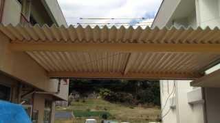 長崎県諫早市 某小学校 渡り廊下 塗装 ライムイシモト