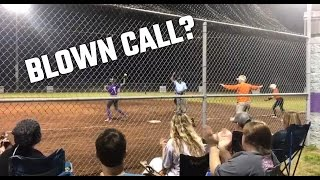 Hilarious video shows girls softball baserunner clearly safe but called out by umpire