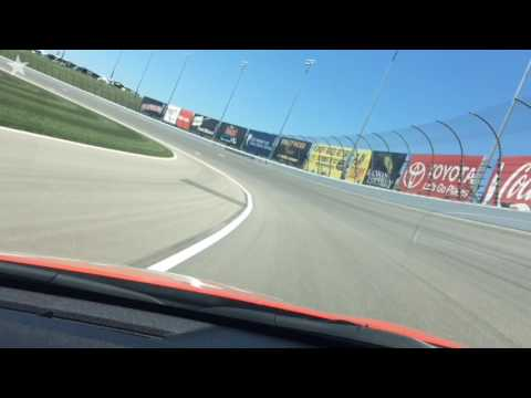 Ride along in the pace car at Kansas Speedway