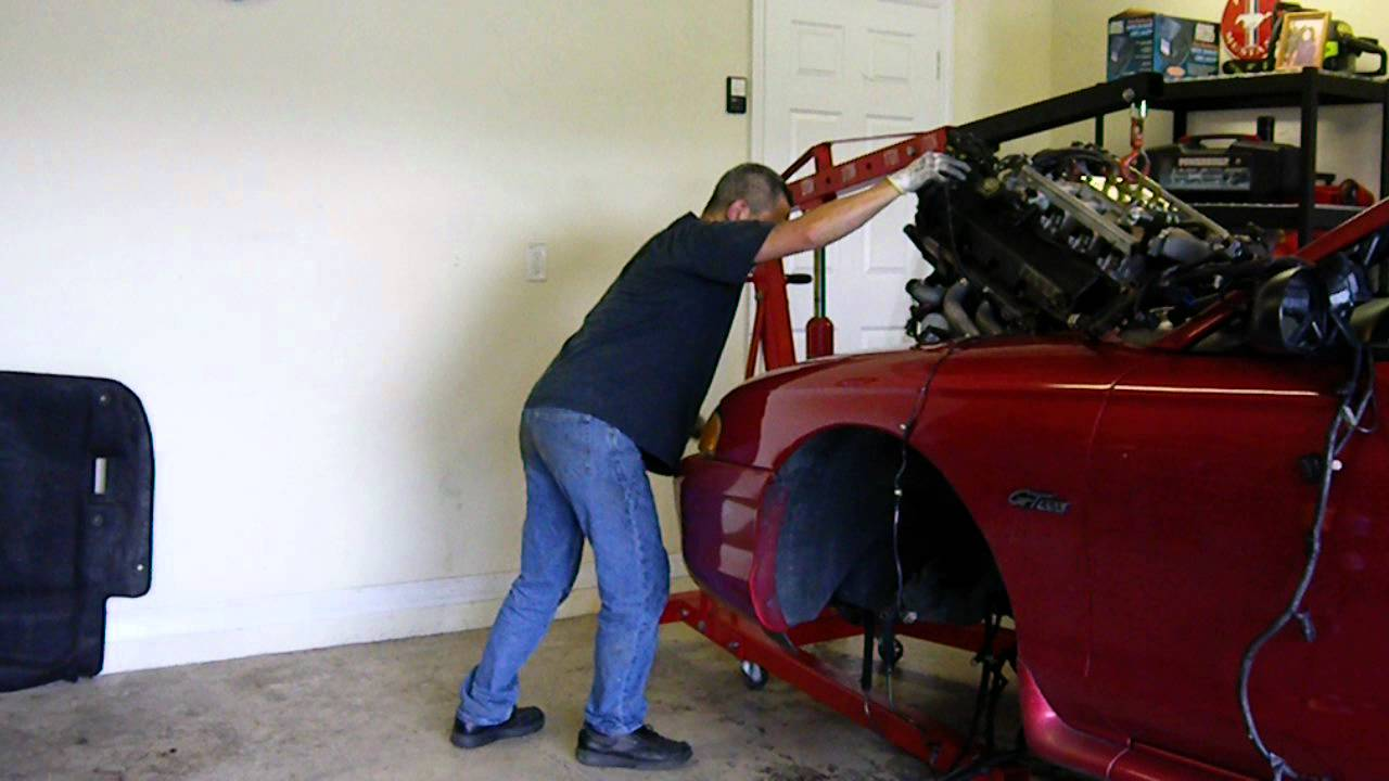 2004 mustang v6 transmission removal