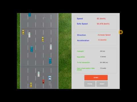 Fuzzy Logic Application - Automatic Speed Controller by Unity C#