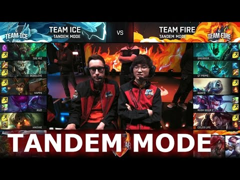 Team Ice vs Team Fire Tandem mode | LoL All-Star Event 2016 Day 4 | Baker baby!