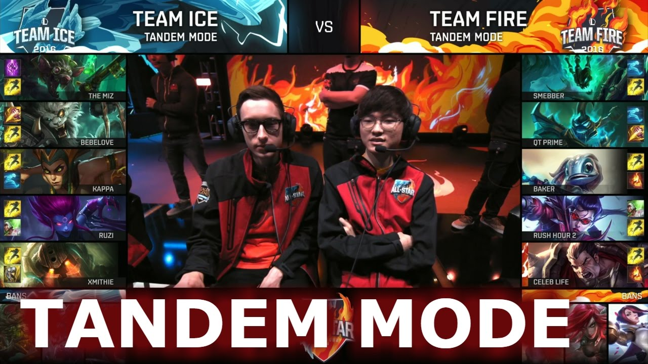 Team Ice vs Team Fire Tandem mode | LoL All-Star Event 2016 Day 4 - YouTube
