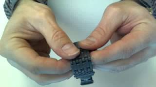 How to remove a split-pin watch link with a simple push pin.