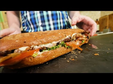 Стейк-сендвич в чиабатте на гриле (разорвишка)
