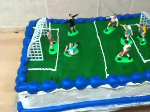 Soccer Field Cake Youtube