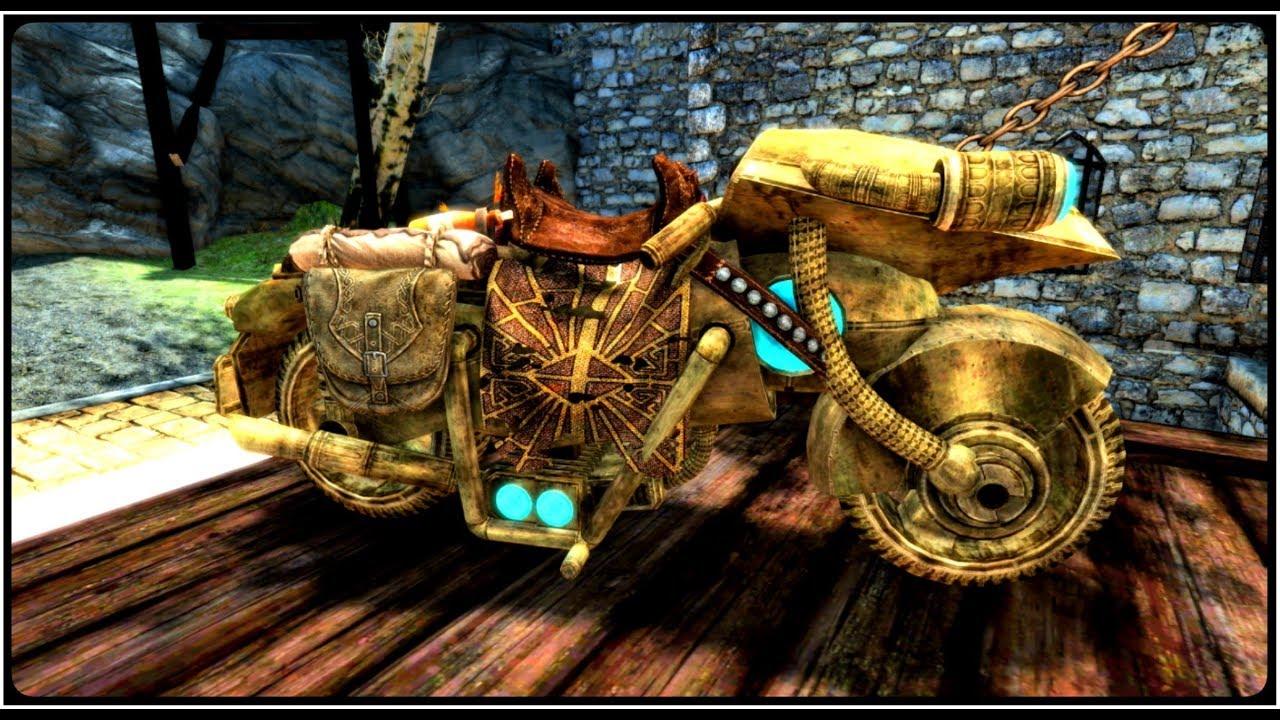Skyrim Special Edition Dwarven Motorcycle Mini Mod Showcase