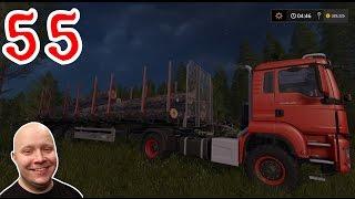 FARMING SIMULATOR 17 - Przyczepa samoładująca kłody drewna #55