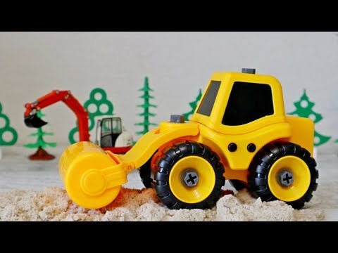 видео: Дорожно - строительные машины для детей. Грузовики на стройке