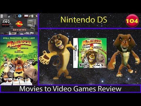 Movies to Video Games Review - Madagascar Escape 2 Africa (Nintendo DS)