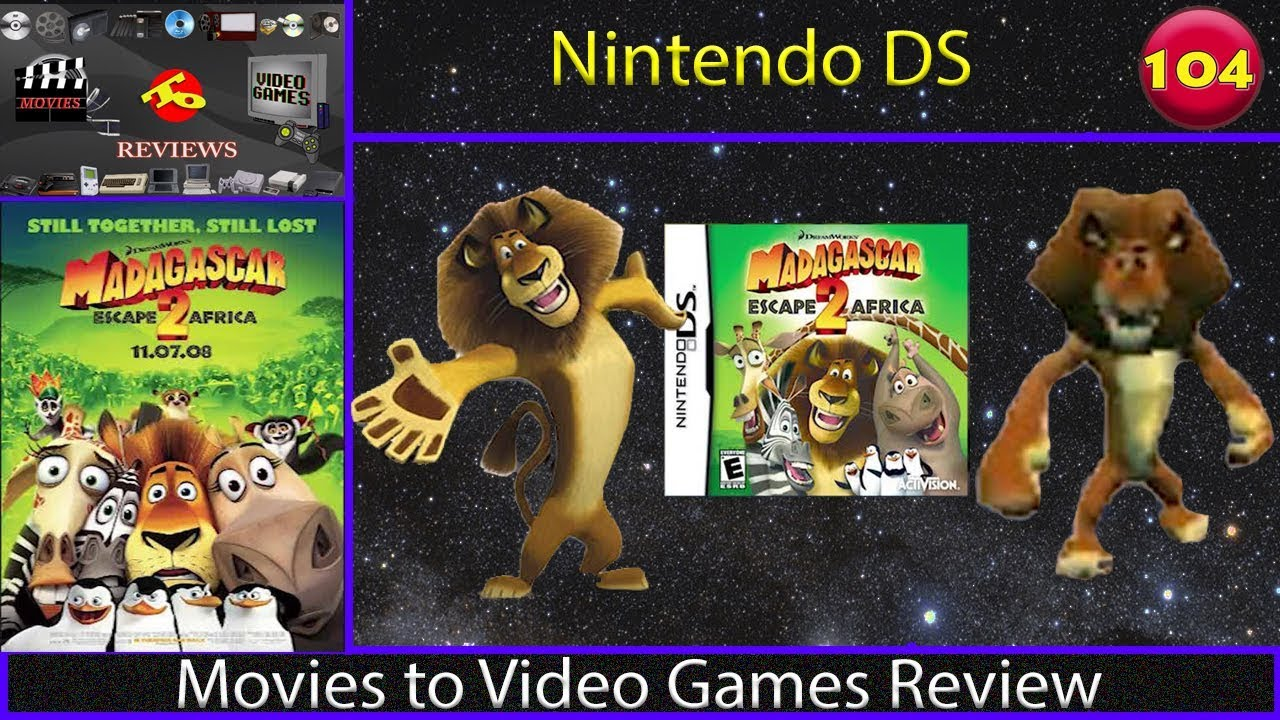 Movies To Video Games Review Madagascar Escape 2 Africa Nintendo Ds Youtube