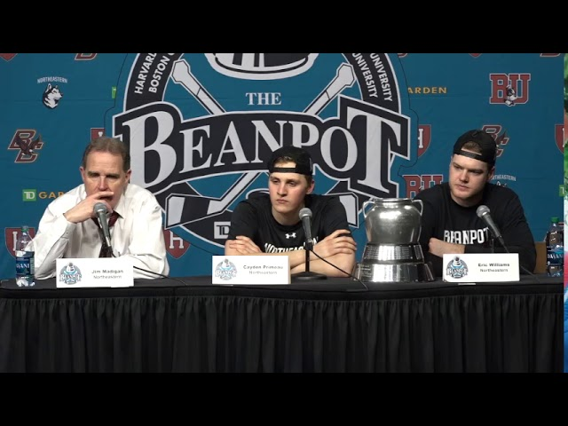 Cayden Primeau, Eric Williams React To Winning Back-To-Back Beanpots