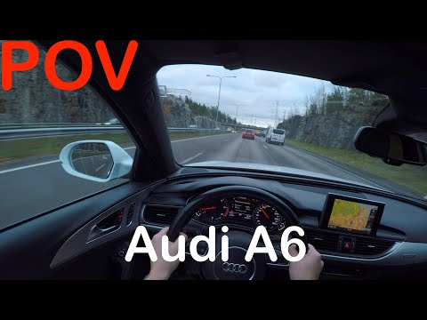 POV Audi A6 Autumn Afternoon Drive + Quick Review - PointOfViewCars