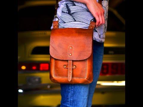 DIY, Cross-body Leather Bag Video Tutorial & Patterns