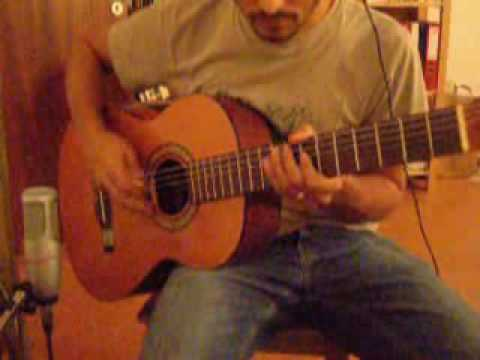 Fraggle Rock theme song on acoustic guitar
