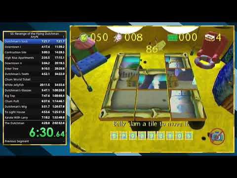(World Record) SpongeBob SquarePants: Revenge of the Flying Dutchman Any% Speedrun in 1:55:43